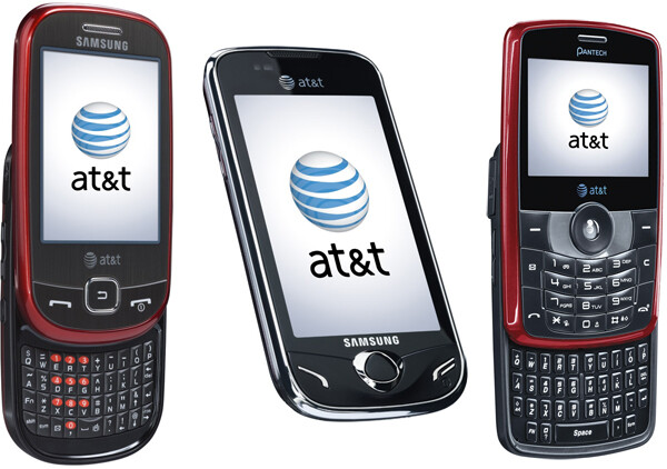 """L to R """"Flight"""", """"Mythic"""" and """"Reveal"""" - Four new feature phones from AT&T to offer Opera-powered full web browsing"""