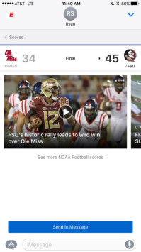 ESPN-iMessage