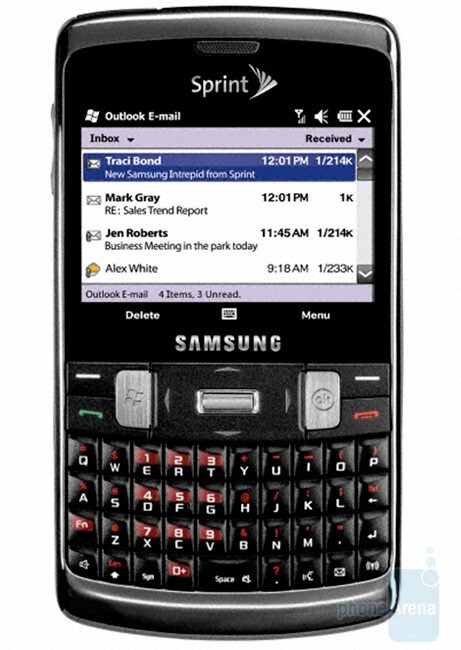 Samsung Intrepid for Sprint – yet another Windows Mobile 6.5 phone