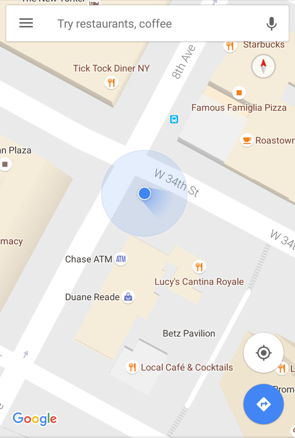 Google Maps for Android drops direction arrow in favor of a blue beam