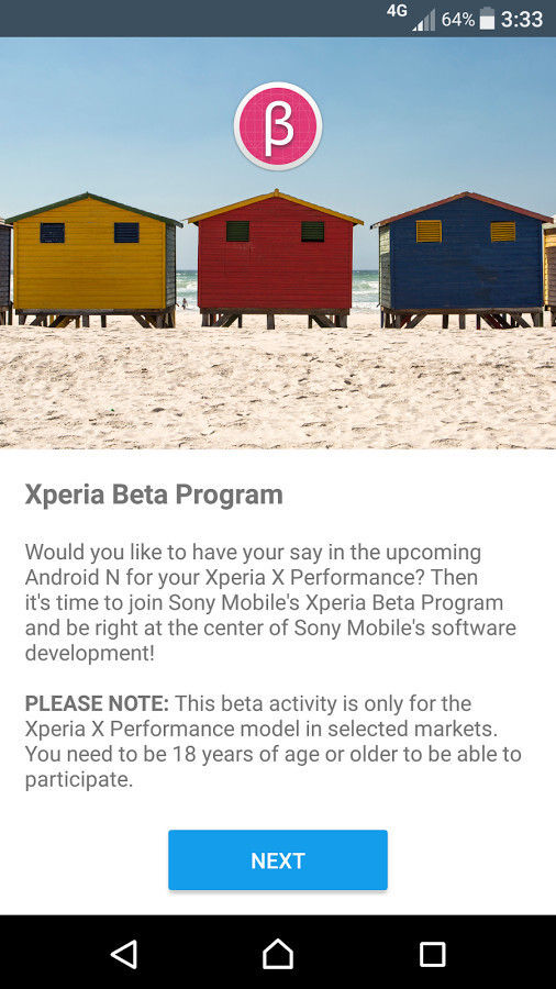 Sony opens registrations for Android Nougat Beta program, but only for Xperia X Performance