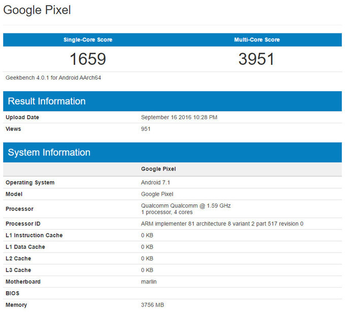 Leaked performance benchmarks supposedly reveal the Google Pixel's performance - Google Pixel XL and Pixel rumor review: design, specs, features, price and release date