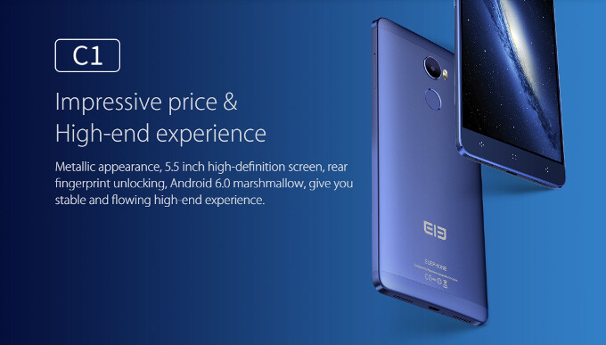 Elephone's latest slab of eye candy costs a mere $119.99 - Elephone C1 official: FHD Marshmallow phablet with 64-bit SoC for just $119