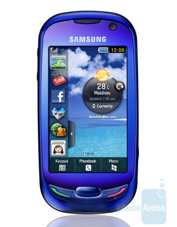 The Samsung Blue Earth S7550 is made of recycled water bottles