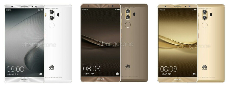 Newly-leaked renders purportedly depict the Huawei Mate 9 (full gallery below) - Huawei's Mate 9 flagship spotted in numerous colors with dual Leica cameras