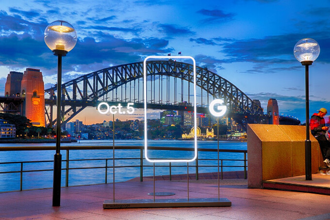 Now in the Land Down Under - Google's sculpture advertising hits Australia