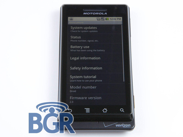 Clear photo of Motorola Droid/Sholes exists!
