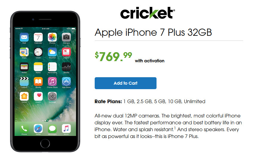 Starting tomorrow, the Apple iPhone 7 and Apple iPhone 7 Plus will be available at select Cricket stores - Apple iPhone 7 and iPhone 7 Plus hit select Cricket company owned and authorized stores tomorrow
