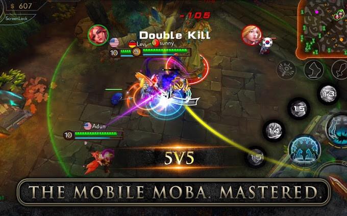 mobile games like dota and lol