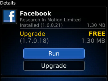 Facebook for BlackBerry gets updated - improves on efficiency
