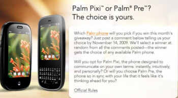 Two ways to win a Palm Pixi