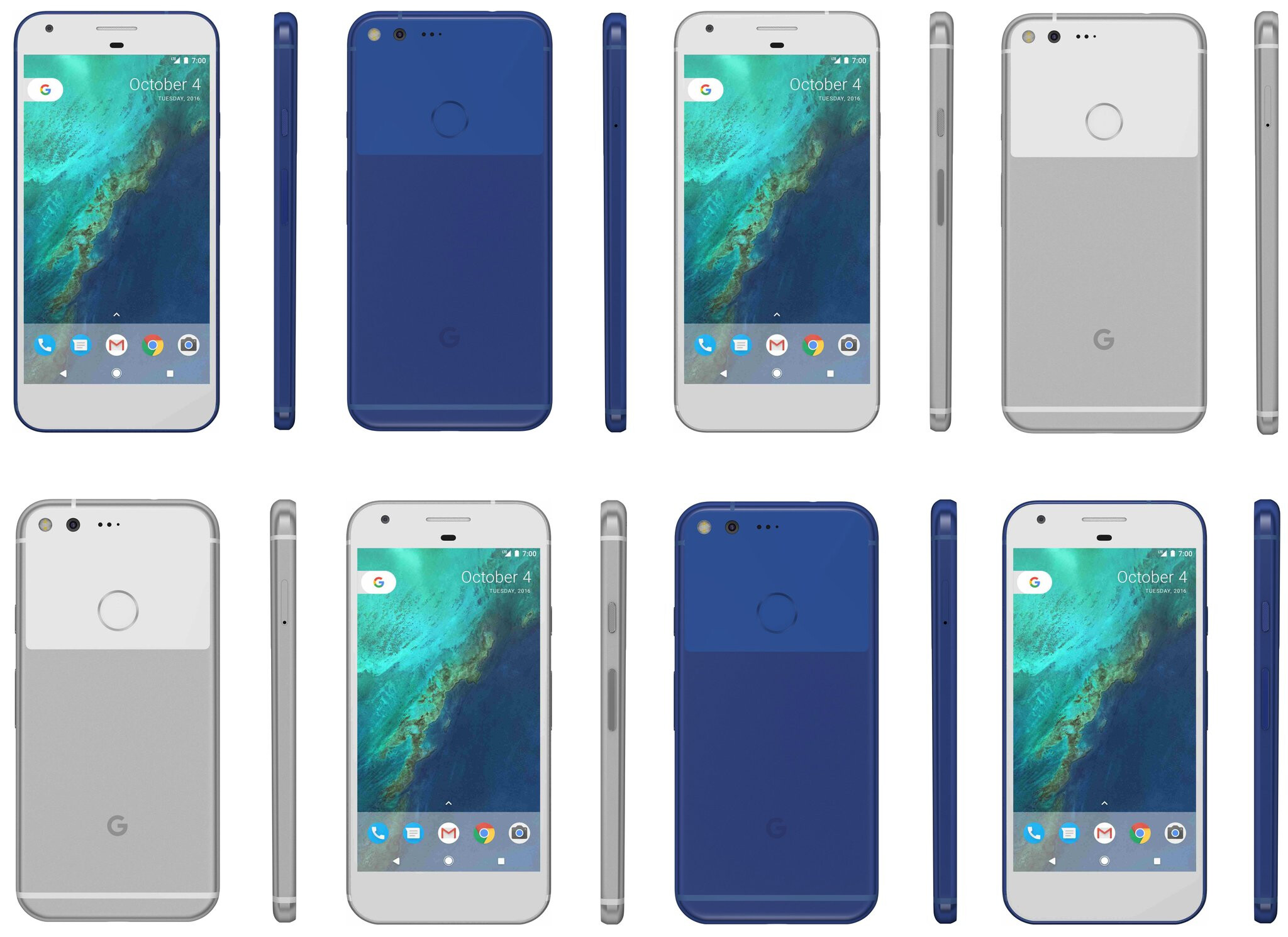 google pixel and pixel xl appear in an awesome blue color that might