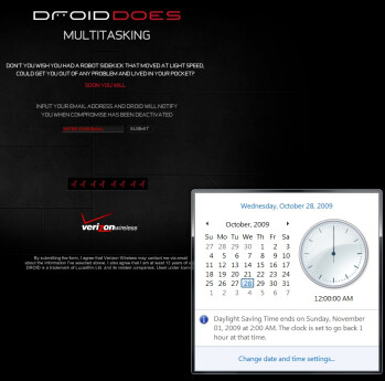 DROID DOES countdown clock now ends on October 28