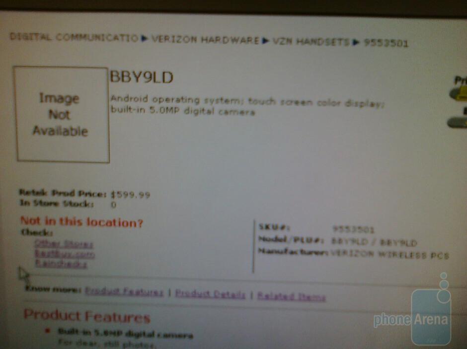 Motorola Droid coming to Best Buy on 24 October?