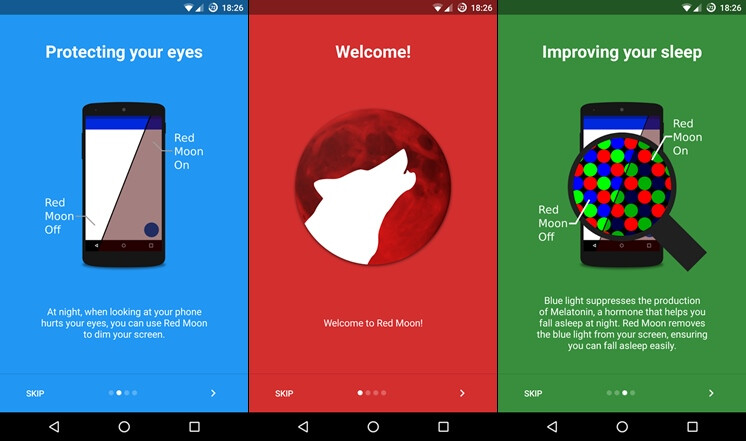 Spotlight: Red Moon for Android is a great blue-light filtering app, alternative to f.lux and Twilight