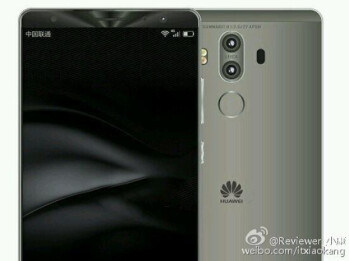 Photo reportedly leaks the dual camera setup on the back of the Huawei Mate 9
