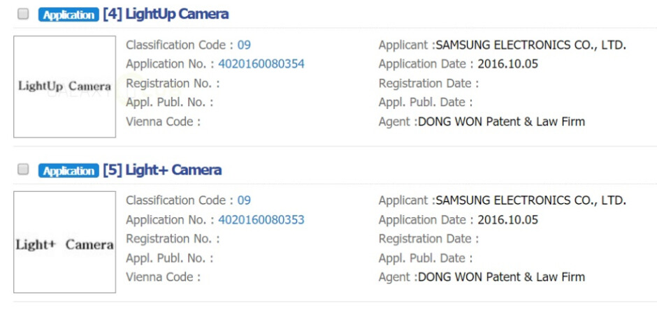 Samsung seeks to register a couple of trademarks related to a dual camera setup - A pair of trademark applications confirm a dual camera setup for the Samsung Galaxy S8