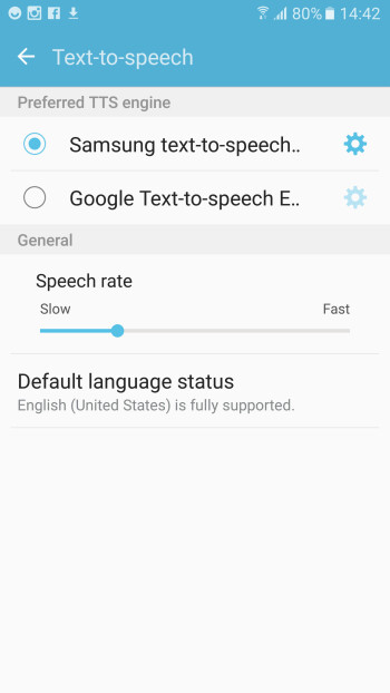How to swap Samsung's default text-to-speech engine with Google's TTS voices