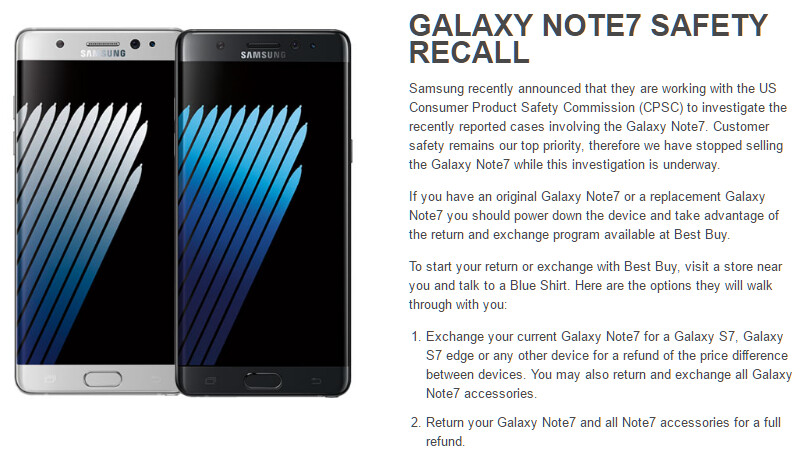 Got Your Replacement Note 7 At Bestbuy You Can Now Return Or Exchange It There Phonearena