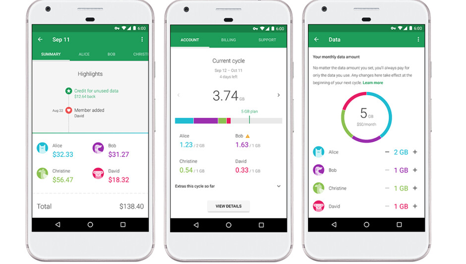 Google has finally introduced group plans for Project Fi
