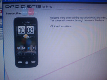 Verizon employees getting trained on the HTC Droid Eris and much more