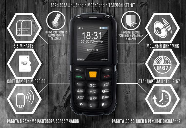 An explosion-proof phone is available in Russia - Russian manufacturer unveils explosion-proof feature phone