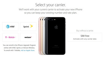 Apple Starts Selling Unlocked SIM Free IPhone 7 And Plus