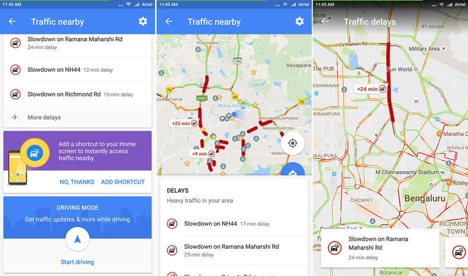 Google Maps Update Introduces A Handy Shortcut To The Traffic Nearby Screen Phonearena
