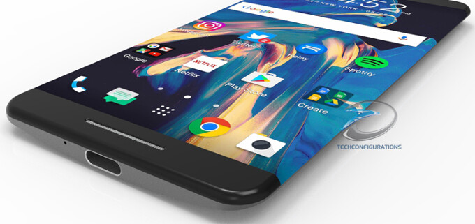 HTC 11 concept includes button-less, waterproof, edge-to-edge design - HTC 11 with dual-edge display envisioned in renders
