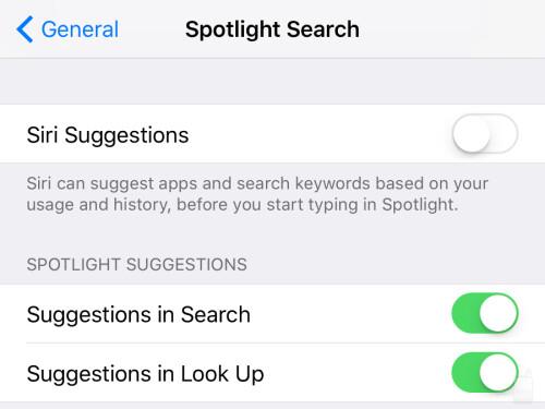 Proactive Siri suggestions, begone!