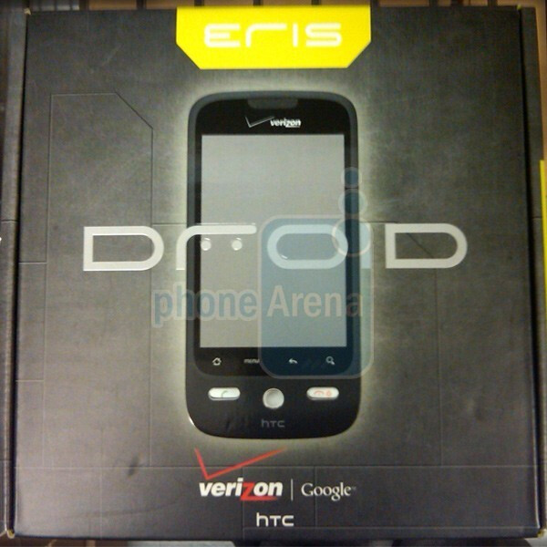 The HTC DROID Eris's box - Live images of the HTC DROID Eris and its Sense UI