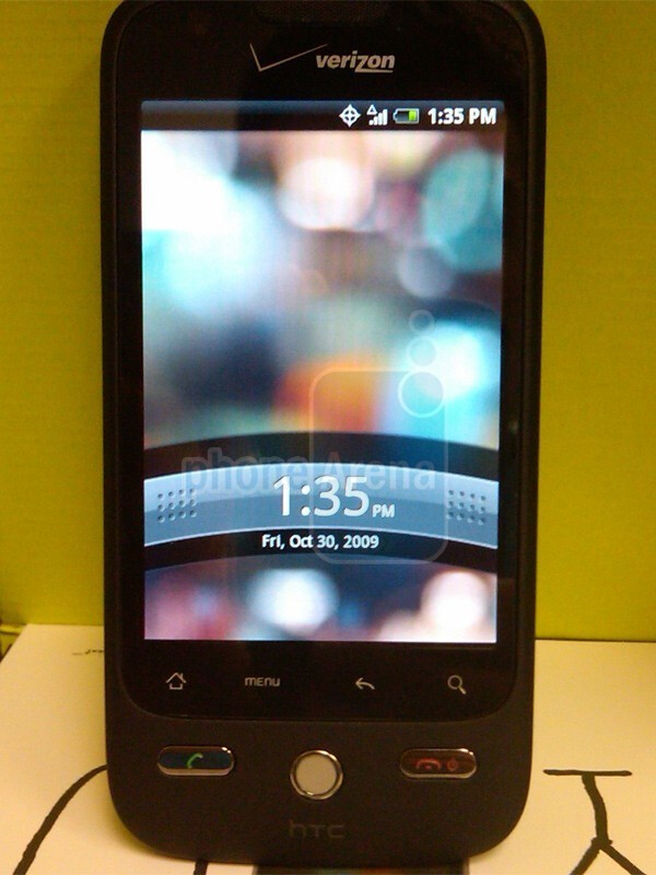 The DROID Eris is said to be the second Verizon Android phone coming - Live images of the HTC DROID Eris and its Sense UI
