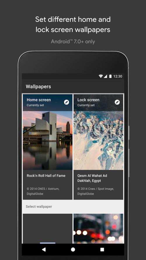 Google Wallpapers screenshots