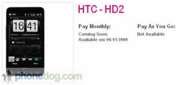 HTC HD2 to get U.K. launch on November 6th?