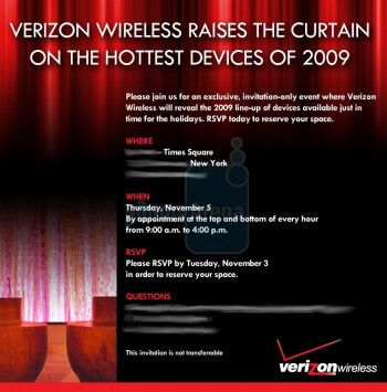 Verizon to showcase it's Holiday line-up on November 5th
