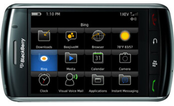 Verizon pushes Bing app to owners of BlackBerry Storm 9530