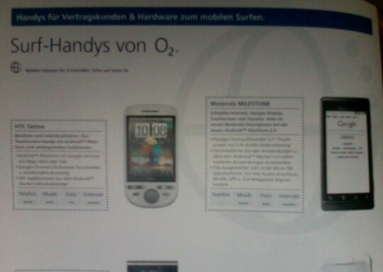 Motorola DROID to get launched in Germany as the MILESTONE by O2