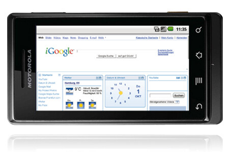 Image from O2 web site - Motorola DROID to get launched in Germany as the MILESTONE by O2