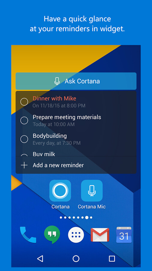 how to get cortana to speak reminders