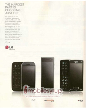 BestBuy Mobile catalog for Canada shows the LG IQ