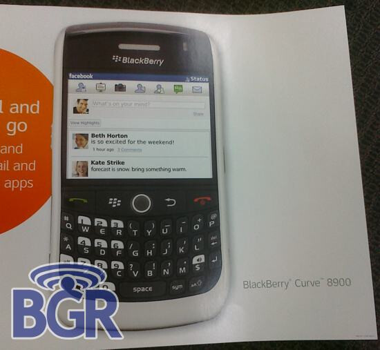 White BlackBerry Curve 8900 for AT&T?