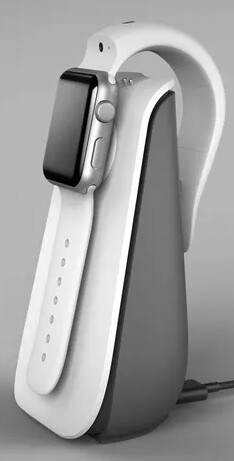 The charging station will power both the strap and the Watch. - CMRA is an Apple Watch band with built-in cameras