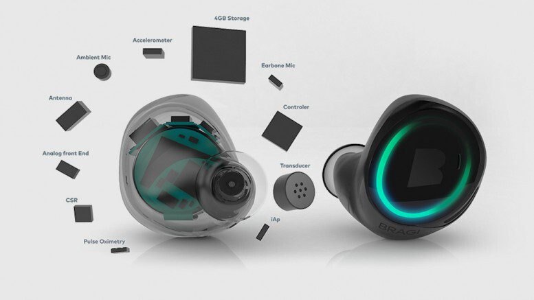 The Bragi Dash pack a lot of technology. - These smart earphones let you call up Siri or Google Assistant by tapping your cheek