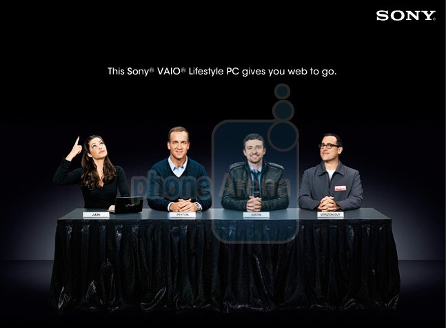 Sony VAIO P netbook for Verizon shows up in a web ad