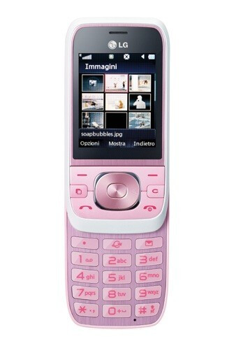 The rosy LG Popcorn GU280 comes from Italy - The rosy-cheeked LG Popcorn GU280 comes from Italy