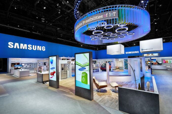 The Samsung booth at CES, 2015