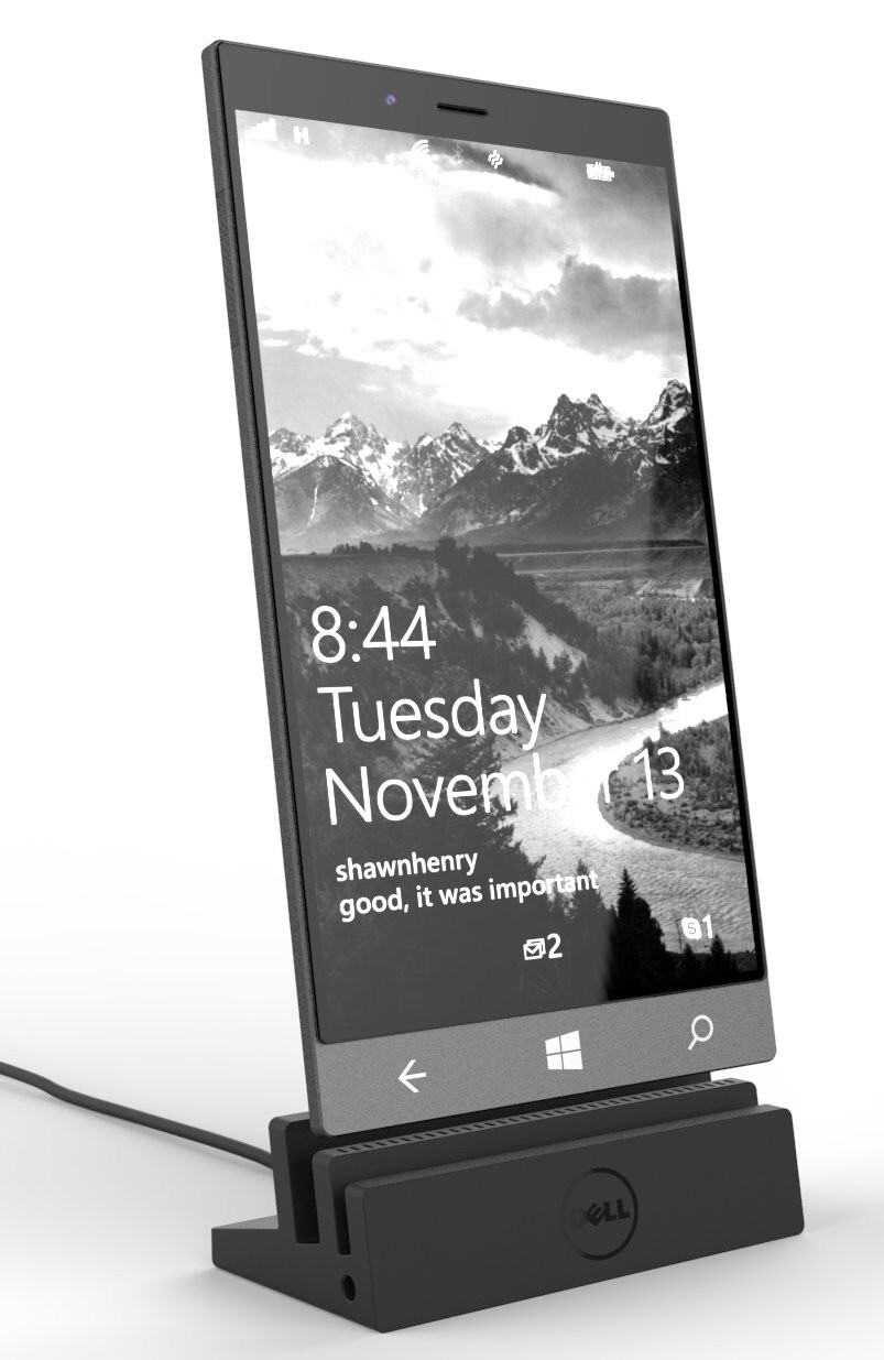 Dell Stack + dock - Dell Stack Windows 10 phablet looks gorgeous in leaked render