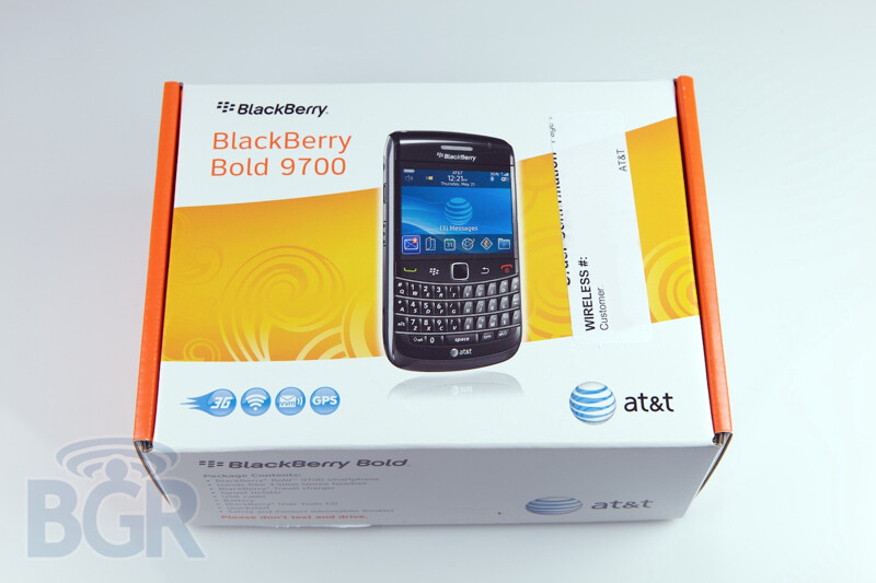 BlackBerry Bold 9700 shipping from AT&T early to business customers?