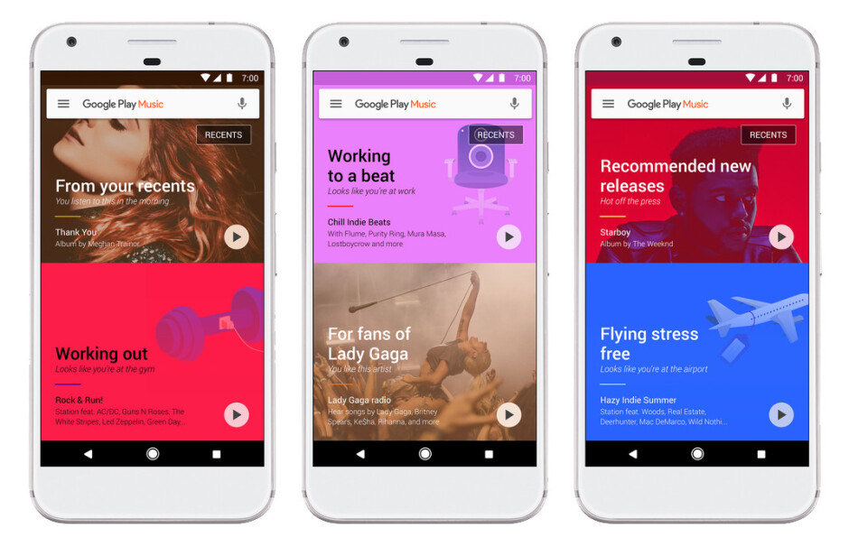 Google Play Music getting personal with machine learning and highly individualized suggestions at the forefront