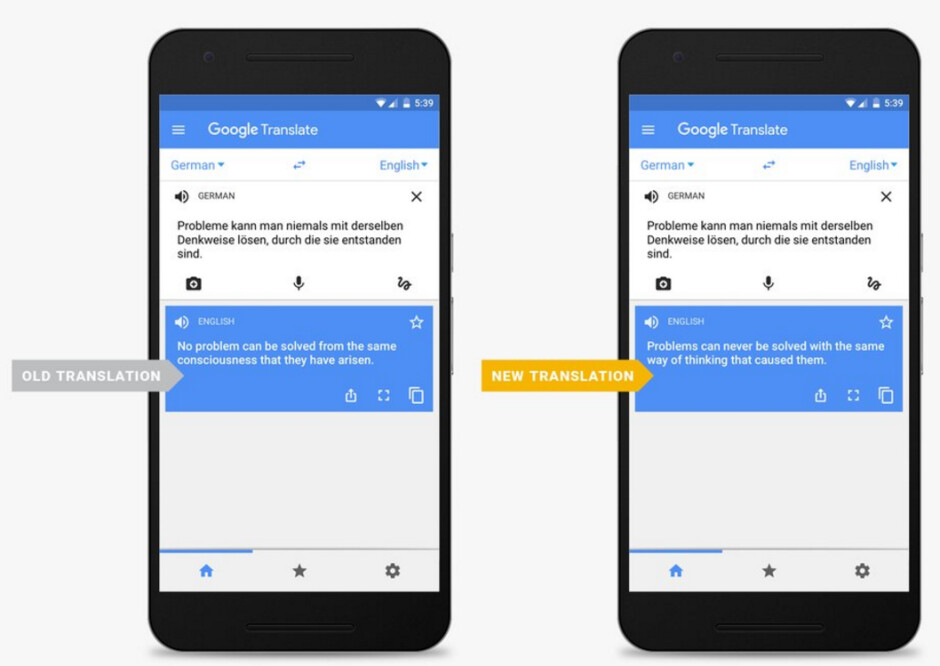 Google Translate's Neural Machine Translation improves the accuracy of certain translations - New technology improves Google Translate's accuracy